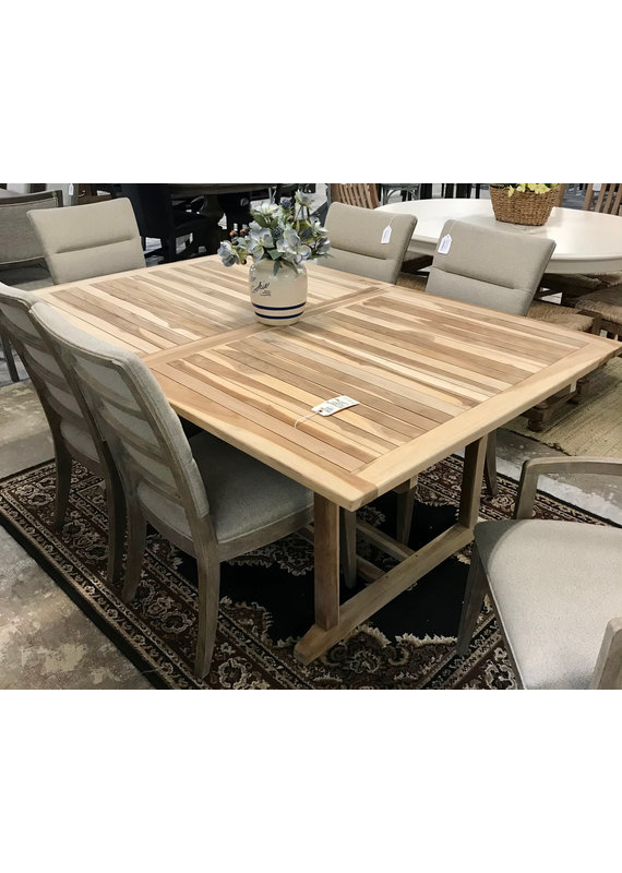 Teak Rectangular Butterfly Leaf Dining Table