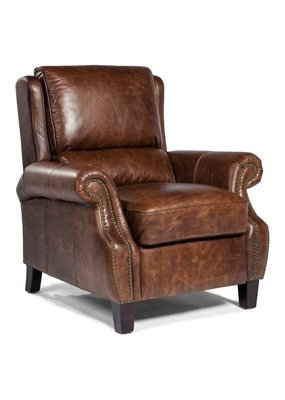 Lazzaro Leather Push Back Recliner