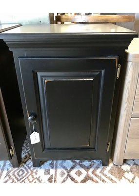 Archbold Furniture Pine Corner One Door Cabinet (Worn Black)