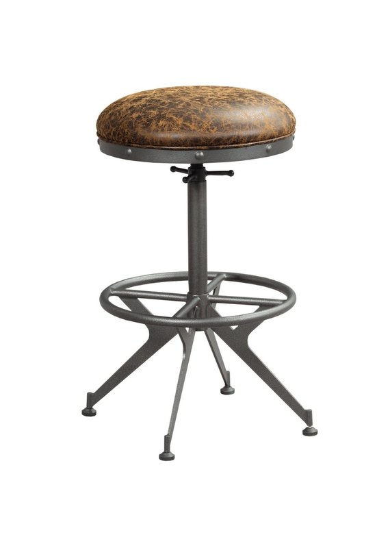 Hammary Hidden Treasures Swivel Adjustable Barstool