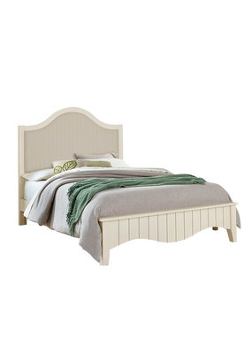 Vaughan Bassett Casual Retreat Queen Upholstered Complete Bed (Shell White)