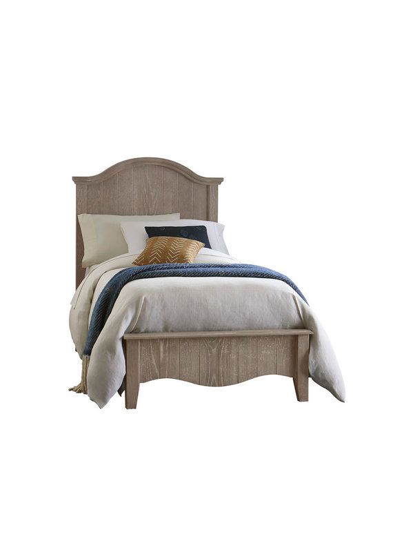 Vaughan Bassett Casual Retreat Twin Arch Complete Bed (Driftwood)