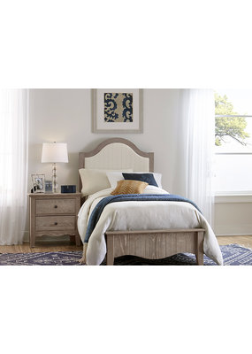 Vaughan Bassett Casual Retreat Twin Upholstered Complete Bed (Driftwood)