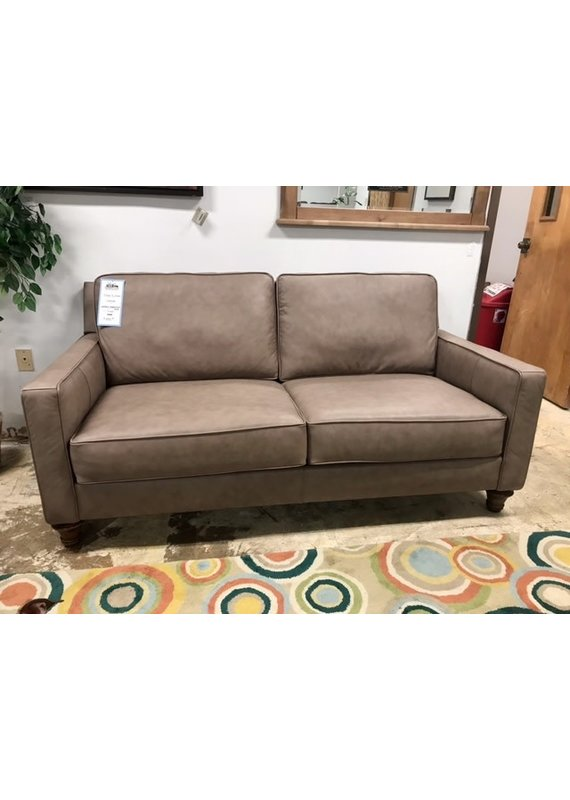 Stone & Leigh Landon Leather Apartment Sofa (Greige)