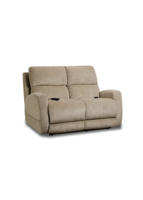 Custom Comfort Beige Triple Power Loveseat