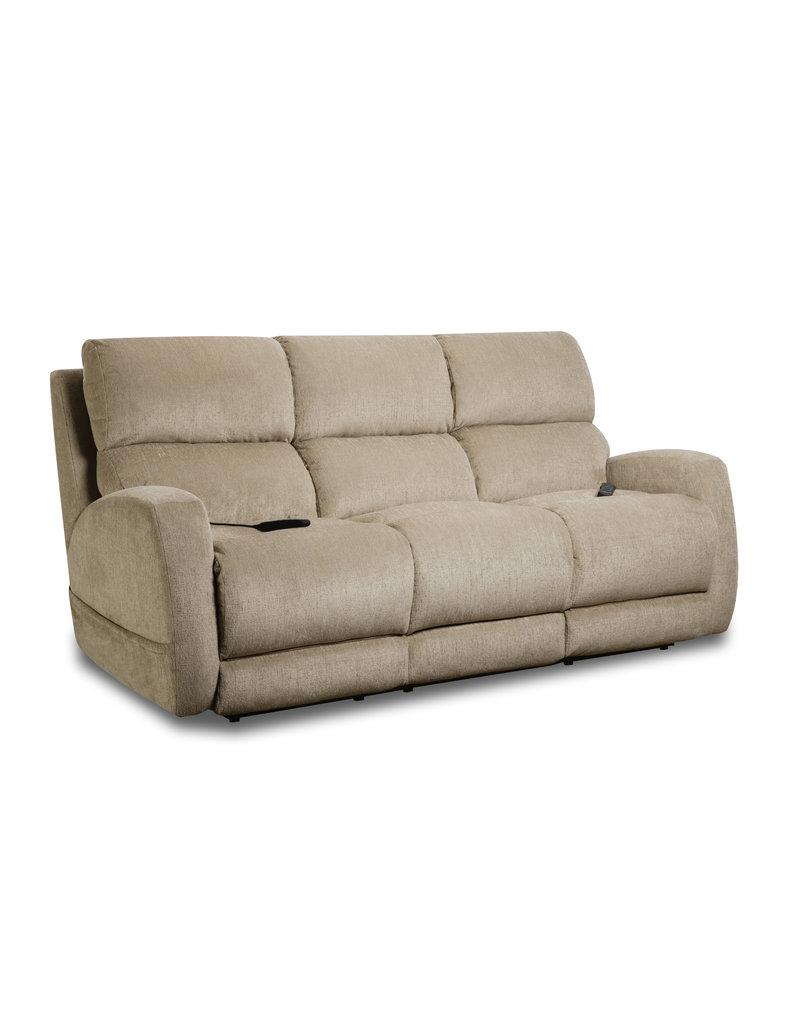 HomeStretch Custom Comfort Beige Triple Power Sofa (193-37-15)