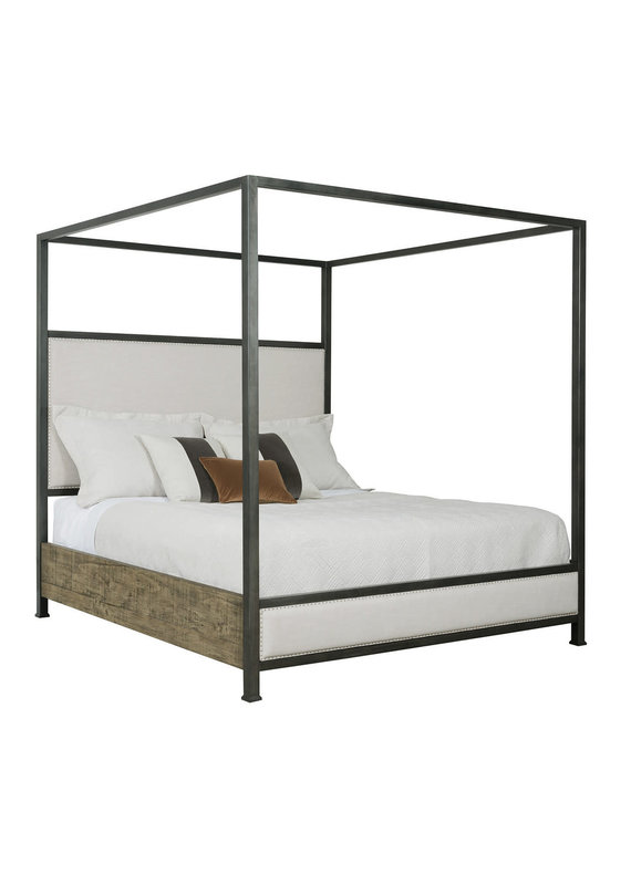 Kincaid Plank Road Shelley Canopy Queen Bed (Stone)
