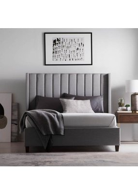 Malouf Malouf Blackwell Complete Upholstered Queen Bed (Stone)