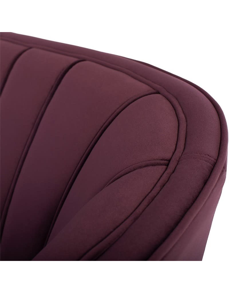 "Nuevo Nuevo Aria 63"" Settee Sofa in Mulberry (HGSC446)"