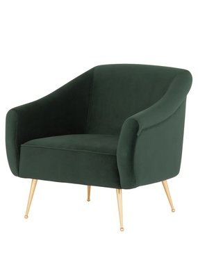 Nuevo Lucie Occasional Chair (Emerald Green)