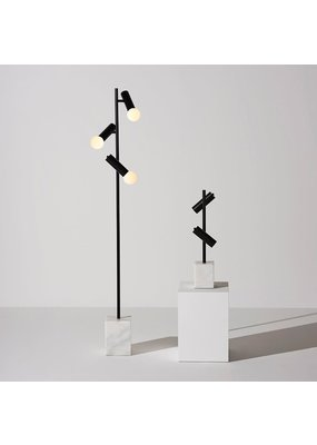 Nuevo Dane Black Floor Lamp