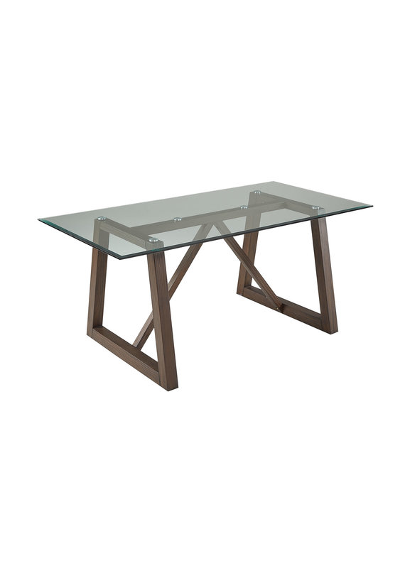 A-America Palm Canyon Trestle Table w/Glass Top