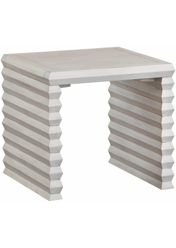 Jasmine Bunching Cocktail Table in Shell White