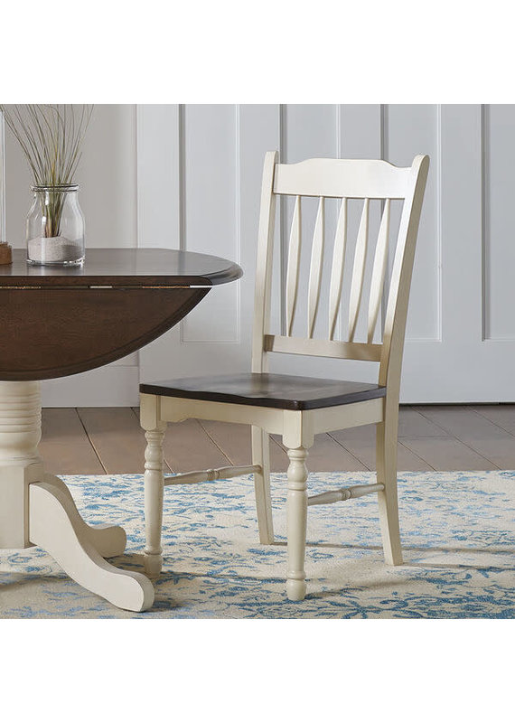 A-America British Isles (Chalk & Cocoa Bean) Slatback Side Chair