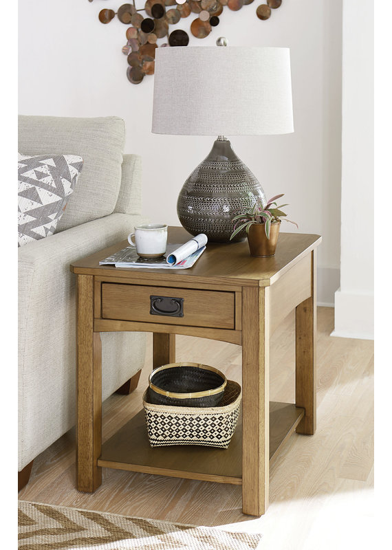 Hammary Scottsdale Rectangular Drawer End Table