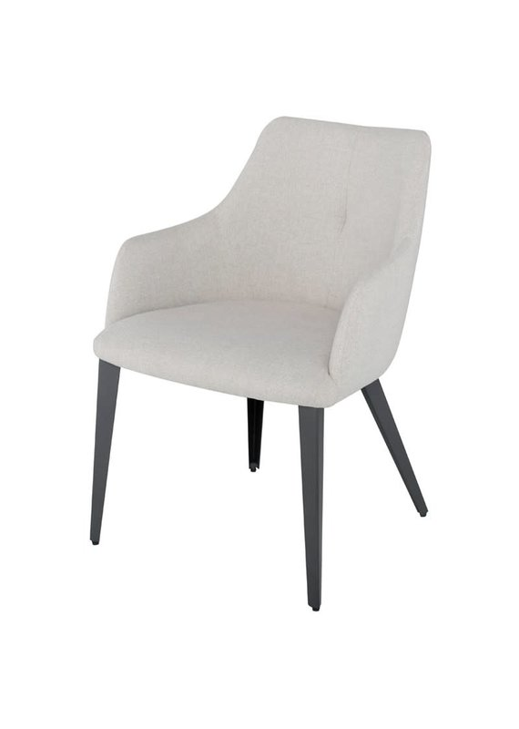 Nuevo Renee Dining Chair in Stone Grey - Titanium