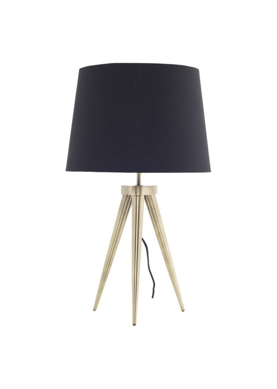Nuevo Triad Table Light in Brass - Black