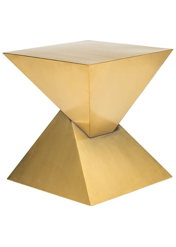 Nuevo Giza Steel Side Table - Gold