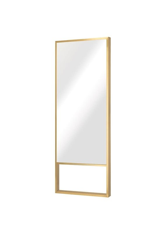 Nuevo Alexa Floor Mirror in Gold