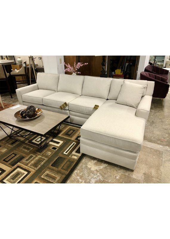 Stone & Leigh Riley 3pc Small Sectional in Cream