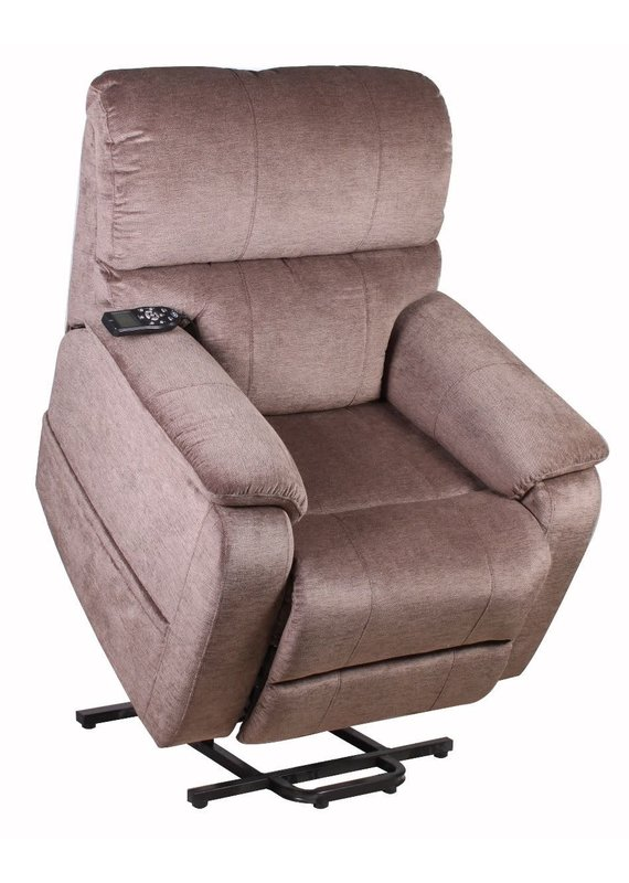 Therapedic Hartman 3 Position Wall-Hugger Lift Chair in Polo Club Java