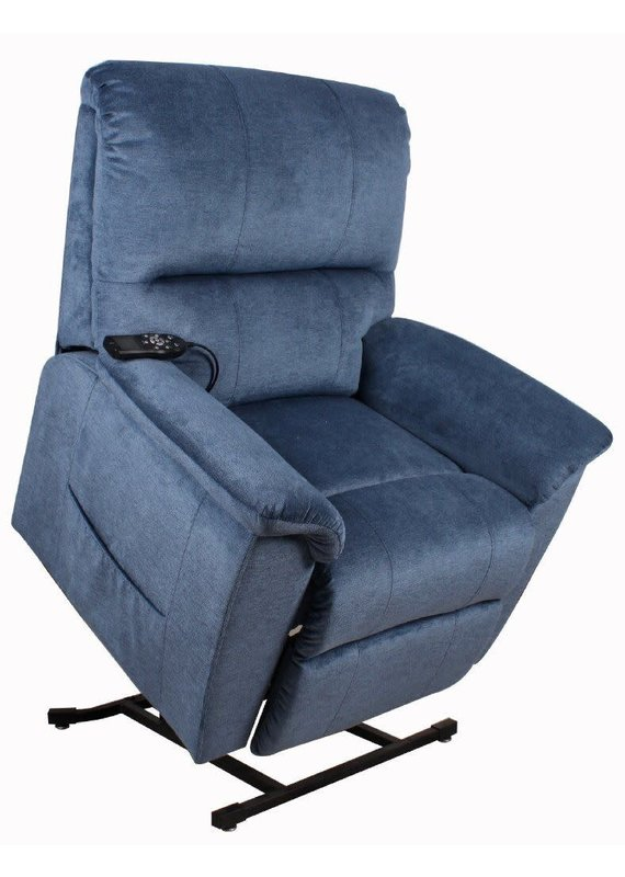 Therapedic Oakland Heat & Massage Lift Chair in Polo Club Lapis