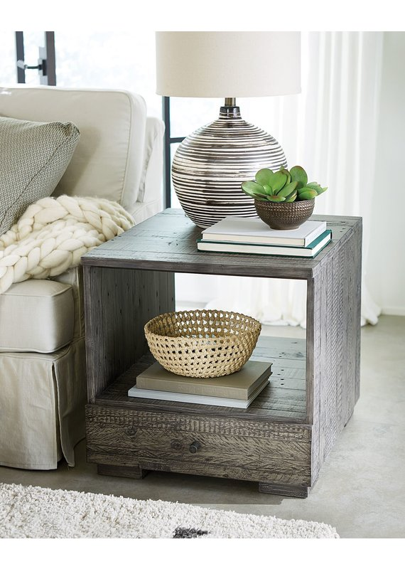 Hammary Reclamation Place Shiplap Rectangular Drawer End Table