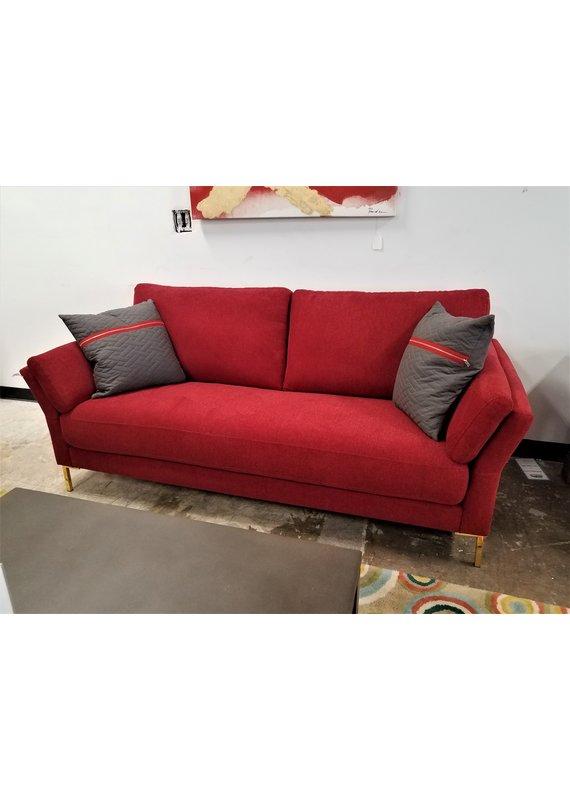 Global Home Furniture Red & Gold Sofa