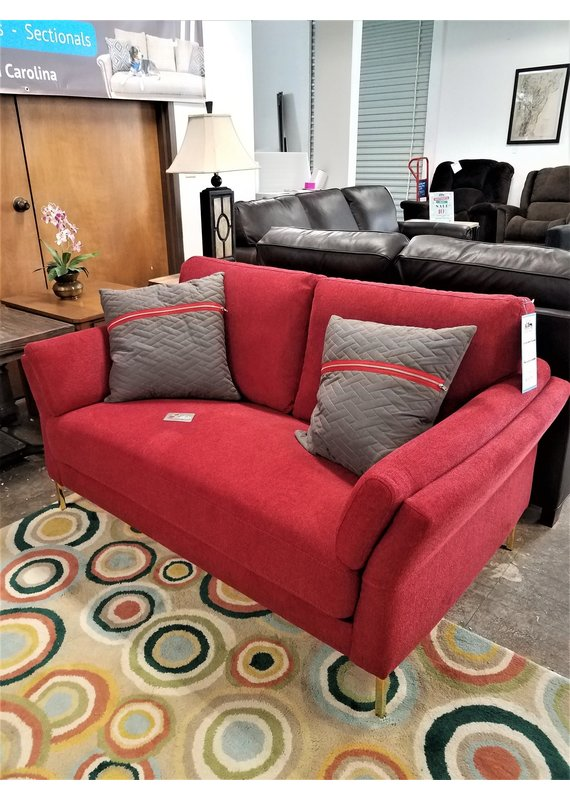 Global Home Red & Gold Loveseat