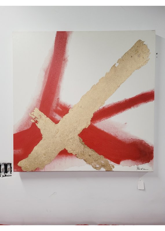 Red & Gold Canvas Art