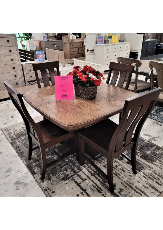 A-America Decatur Square Pedestal Dining Table