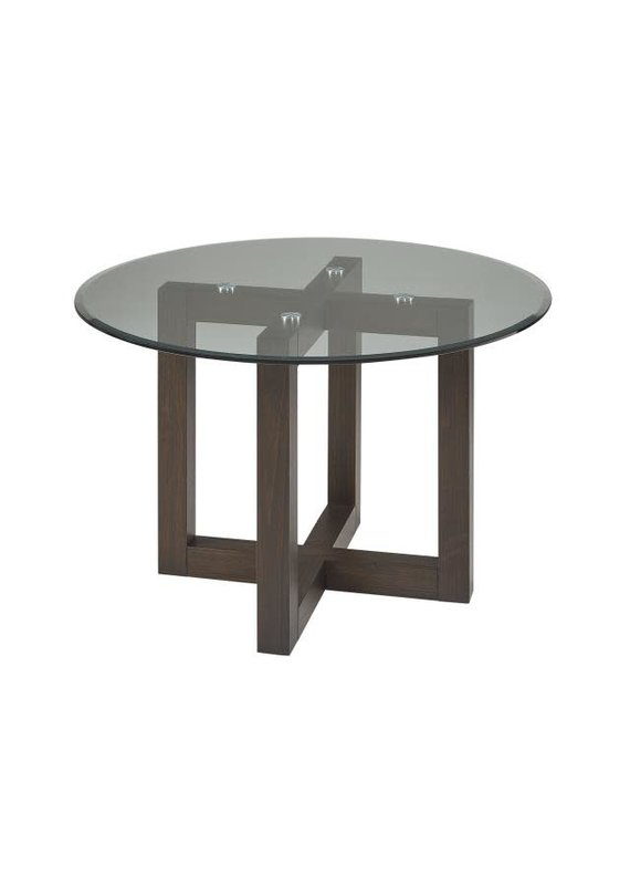 """A-America Palm Canyon 48"""" Round Glass Top Dining Table"""