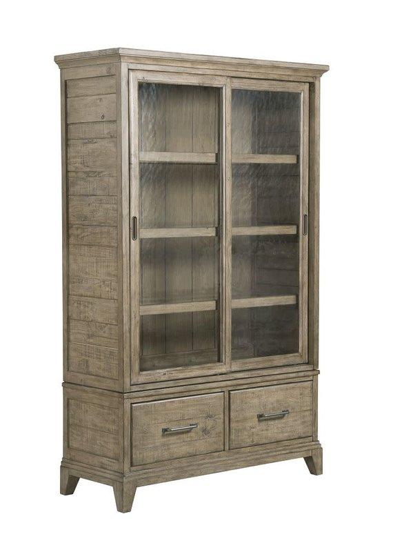 Kincaid Plank Road Stone Darby Display Cabinet