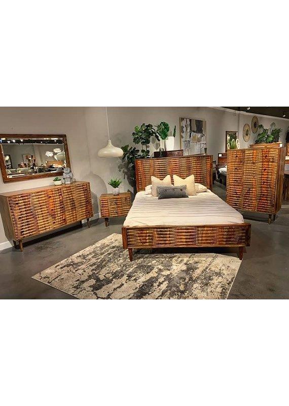 Porter Designs Waves Harvest Queen Complete Bed