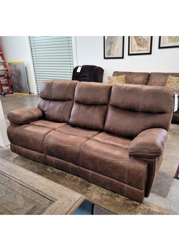 Emerald Home Double Reclining Microfiber Sofa