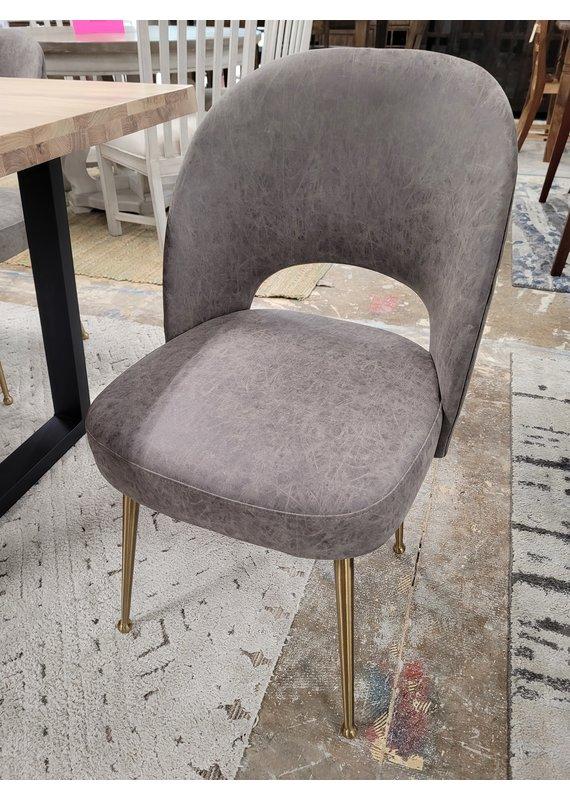 Sirius Dining Chair in Grey Vintage Vinyl