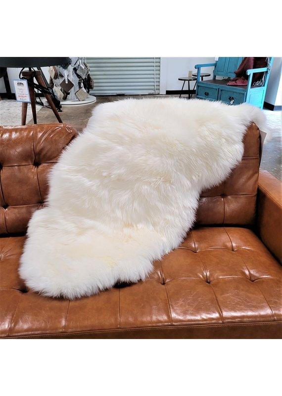 Chesterfield Leather Double Australian Sheepskin in Ivory Lined