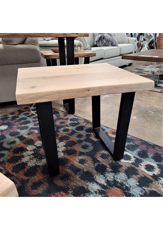 Global Home Furniture Oak Mill White Oil Live Edge End Table