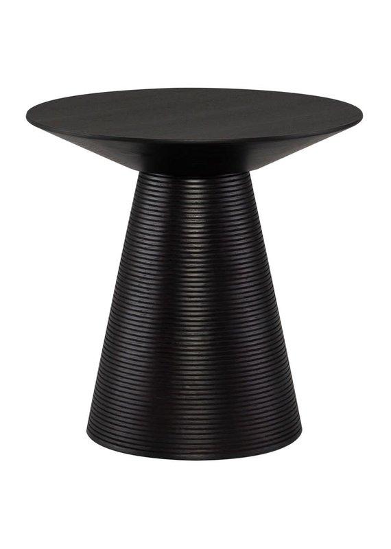 Nuevo Anika Side Table in Black Oak