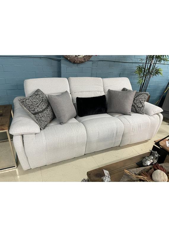 Light Gray Full Extension Double Power Reclining Sofa