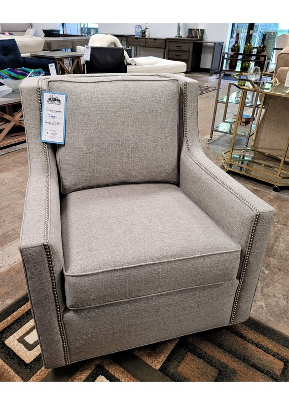 Stone & Leigh James Swivel Rocking Chair in Turbo Ash