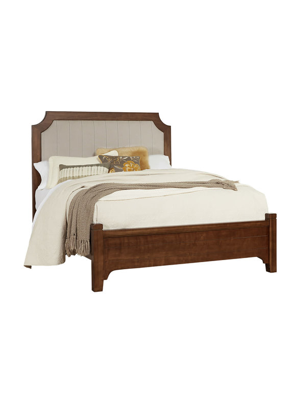 Vaughan Bassett Bungalow Sienna Upholstered Full Size Complete Bed (742-441, 255, 911)