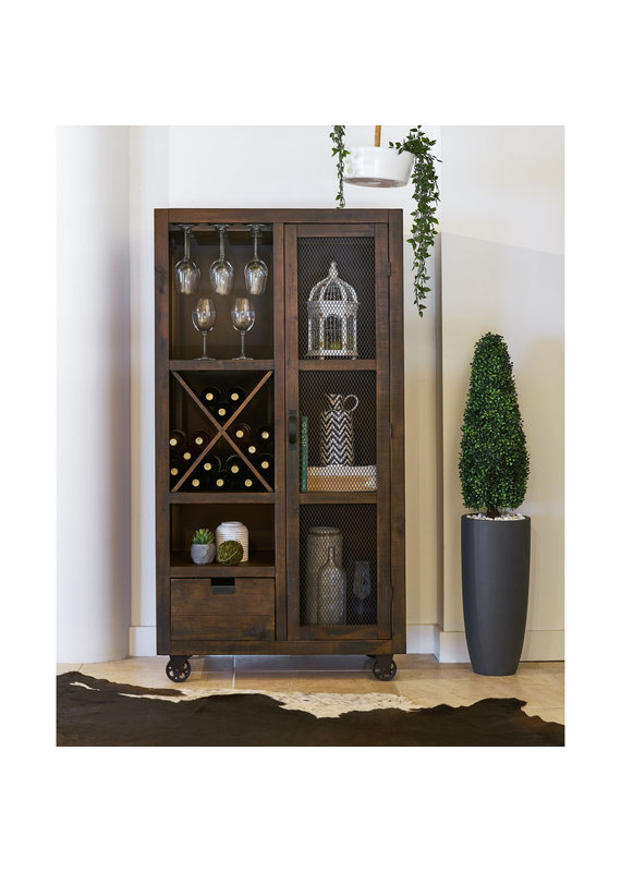 Elements Industrial Chocolate Tall Curio