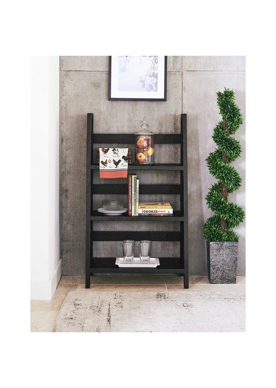 """Elements Harrison 47"""" Ladder Shelf in Black"""