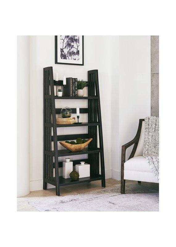 """Elements Harrison 60"""" Ladder Shelf in Black"""