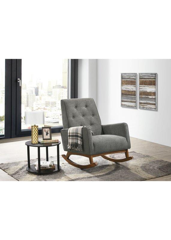 Elements Marius Rocker Chair in Skyler Dark Grey