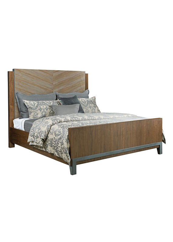 American Drew Modern Synergy Chevron Maple Queen Complete Bed