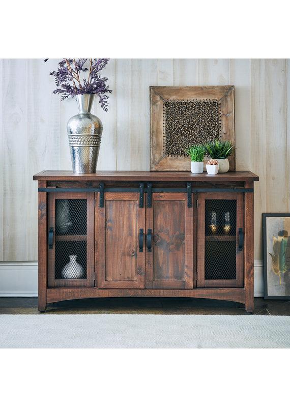 Elements Hugo Barn Door TV Stand in Brown