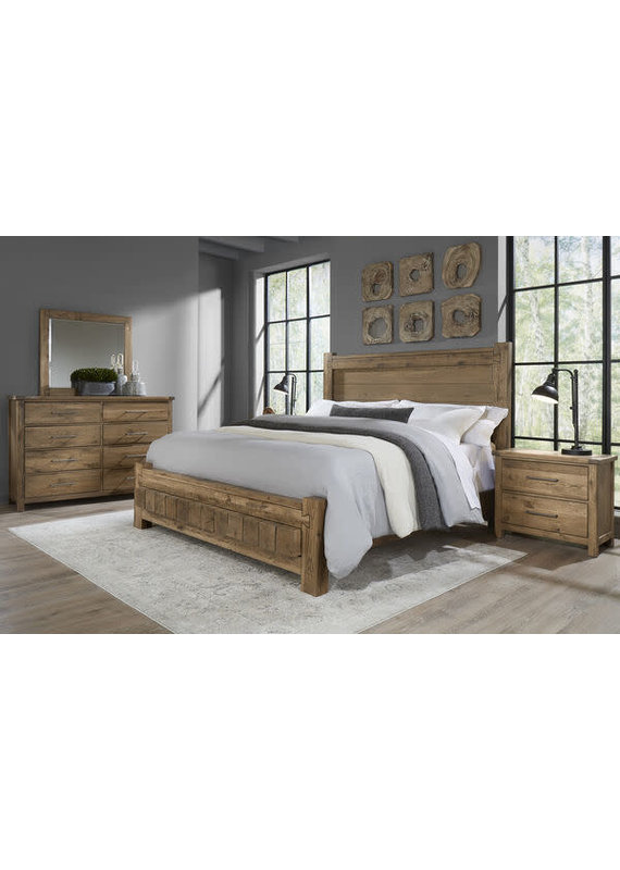 Vaughan-Bassett Dovetail Natural Queen Poster & 6X6 Complete Bed