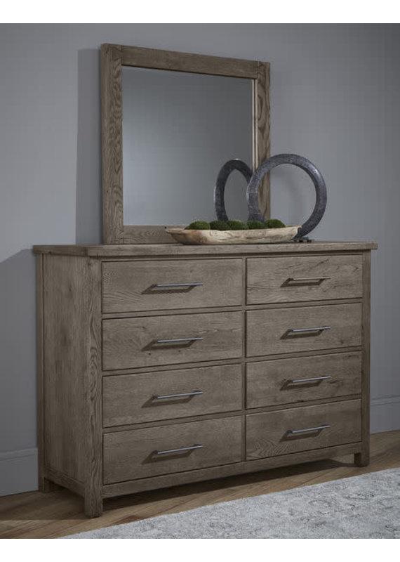 Vaughan-Bassett Dovetail Mystic Grey 8-Drawer Dresser